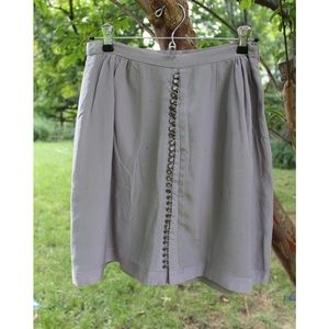 Anthropologie Grey Button-Down Skirt by Odille